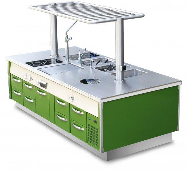 Küche Kochinsel grün